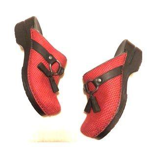 Dansko Shandi Red Print Snake Tassel Ring 38
